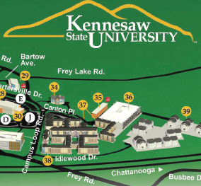 Maps Contacts And Info Kennesaw State Campus Map Resources For