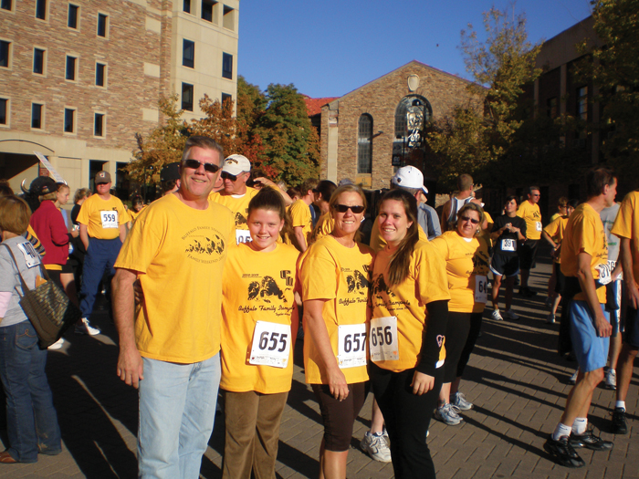 Parents and students participate in fun run