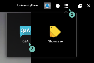 Open the Question and Answer app on Google+