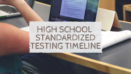 A High School Standardized Testing Timeline