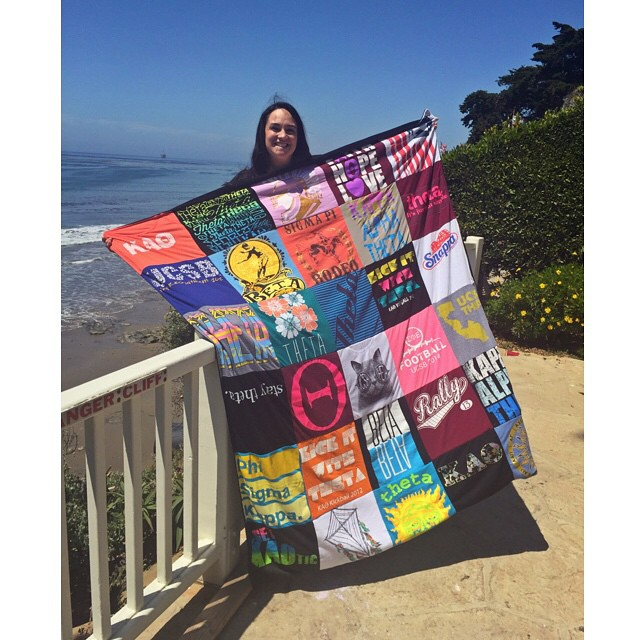 An image of the The Best Graduation Gift, Turn their t shirts into a t shirt quilt!