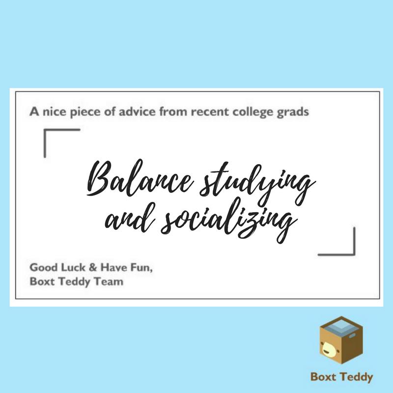 balance studying and socializing