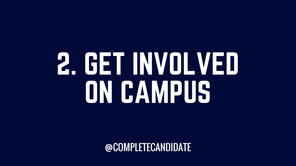 get involved on campus