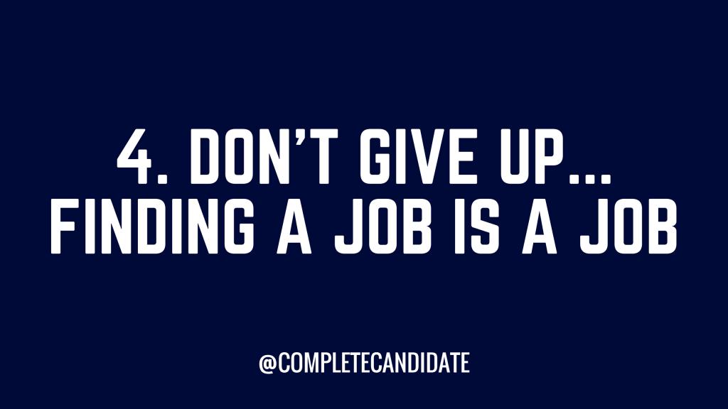 finding a job is a job