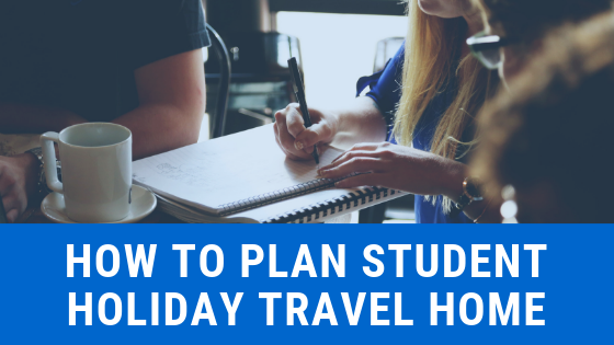 plan student holiday travel home