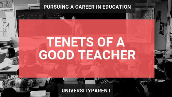 Tenets of a Good Teacher