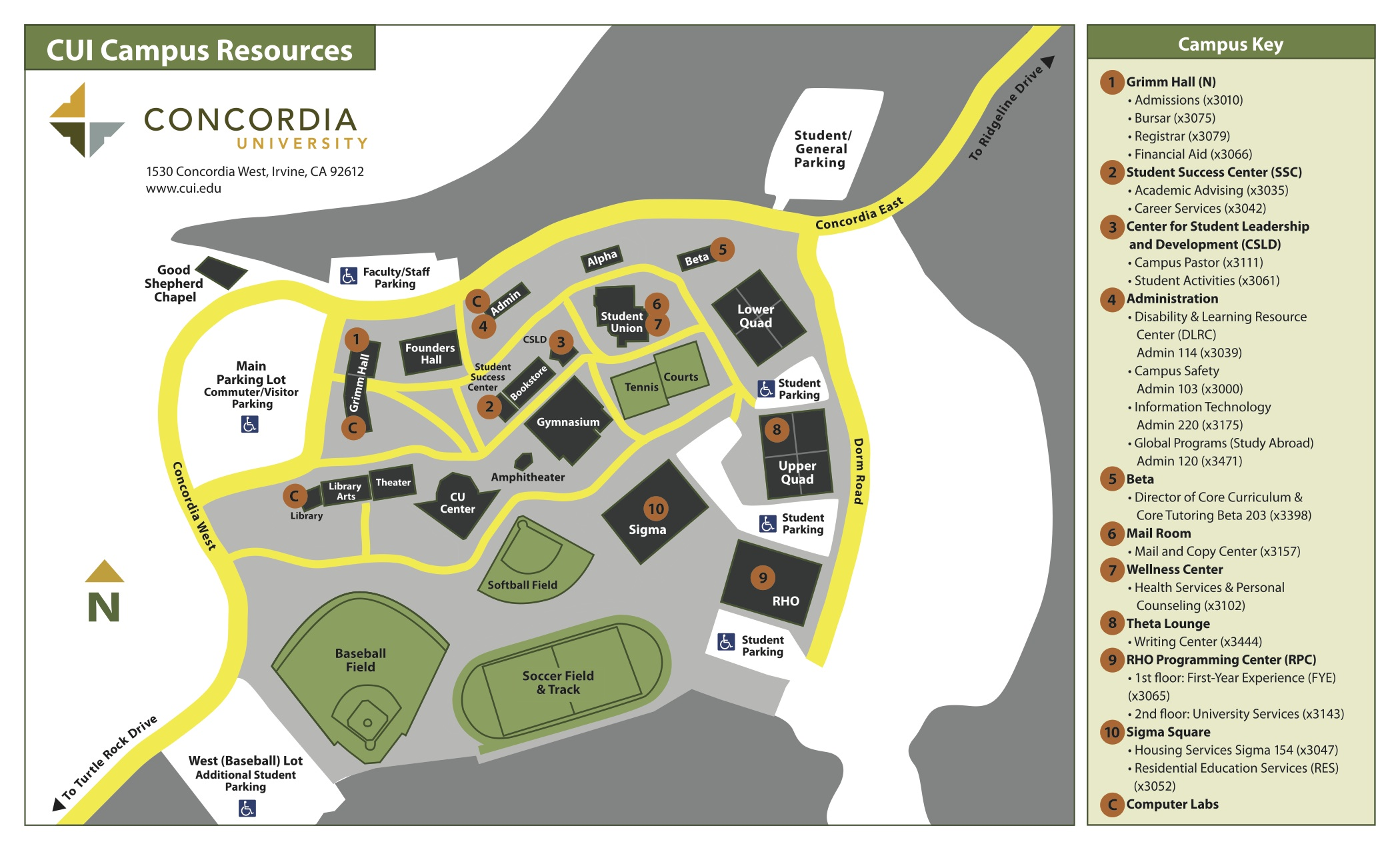 Concordia University Campus Map Resources for Concordia University